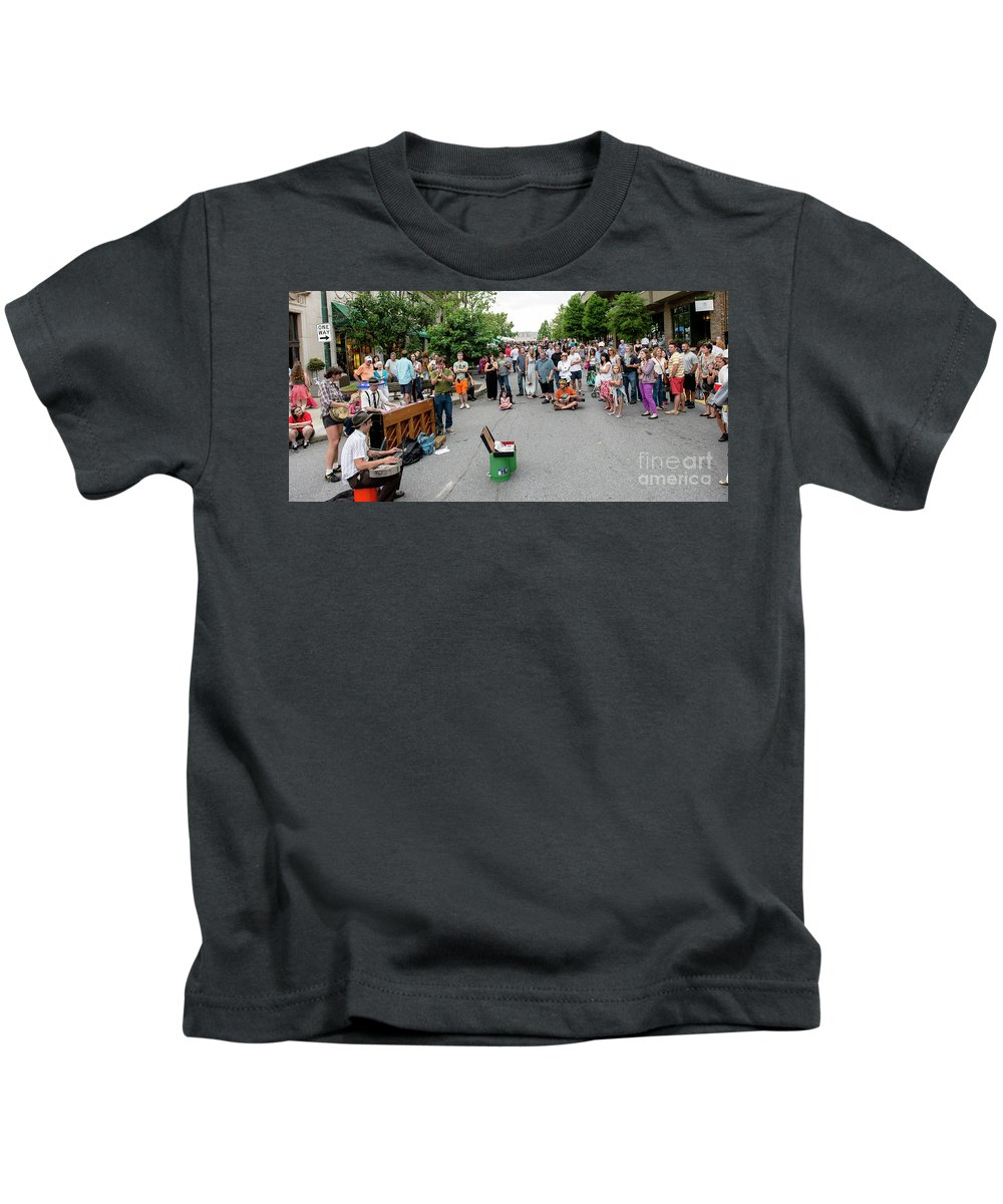 Asheville Kids T-Shirt featuring the photograph Bele Chere Festival by David Oppenheimer