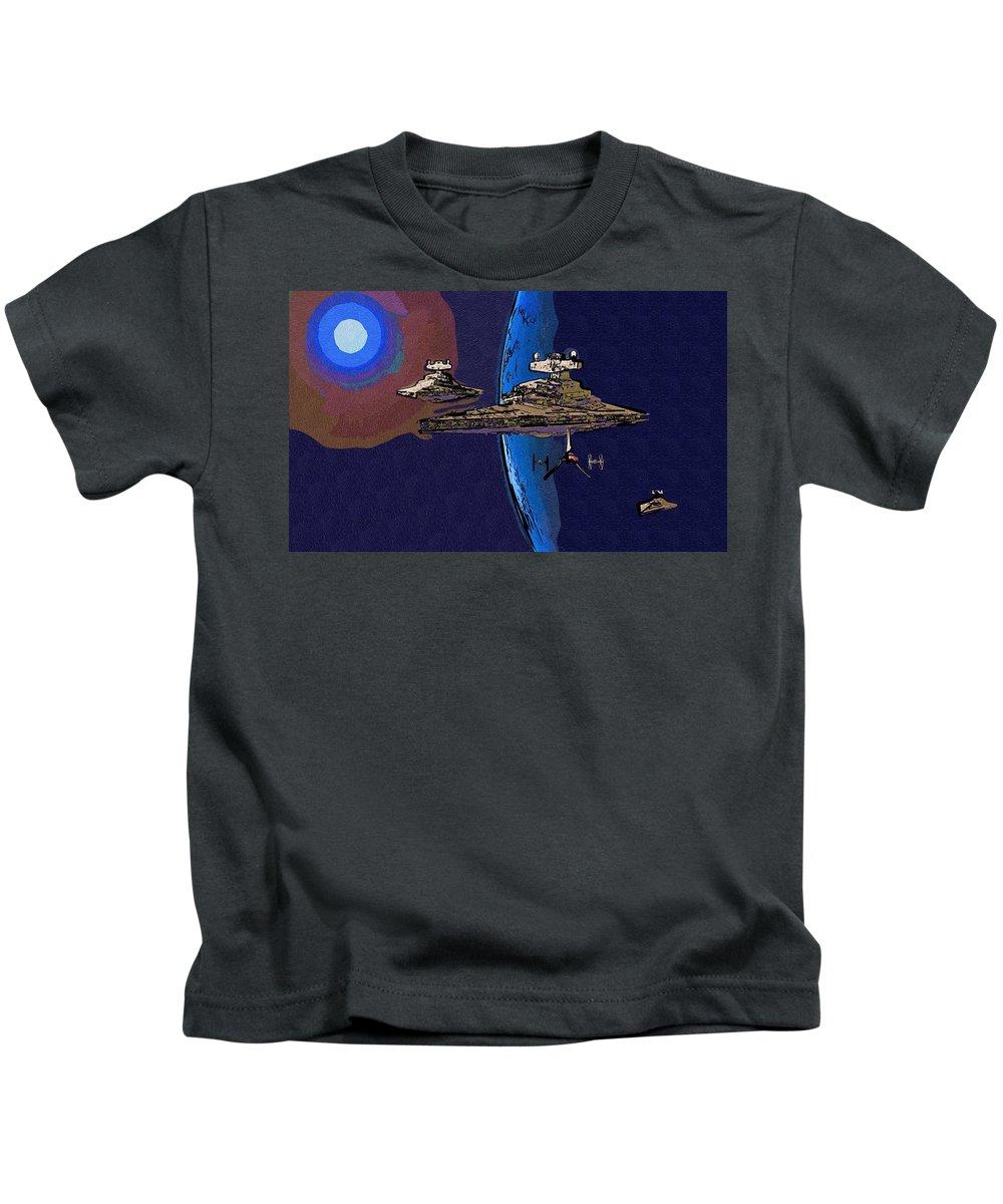 Star Wars Kids T-Shirt featuring the digital art A Star Wars Poster by Larry Jones