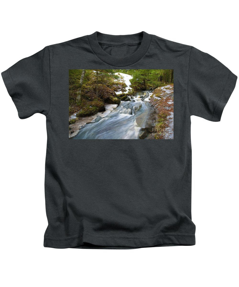 Creek Kids T-Shirt featuring the photograph Rapids by Esko Lindell