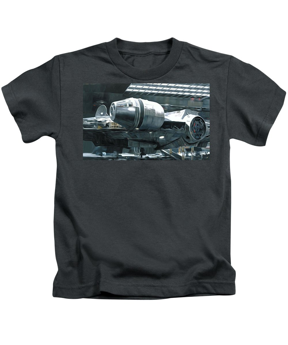 Star Wars Kids T-Shirt featuring the digital art Star Wars A Poster by Larry Jones