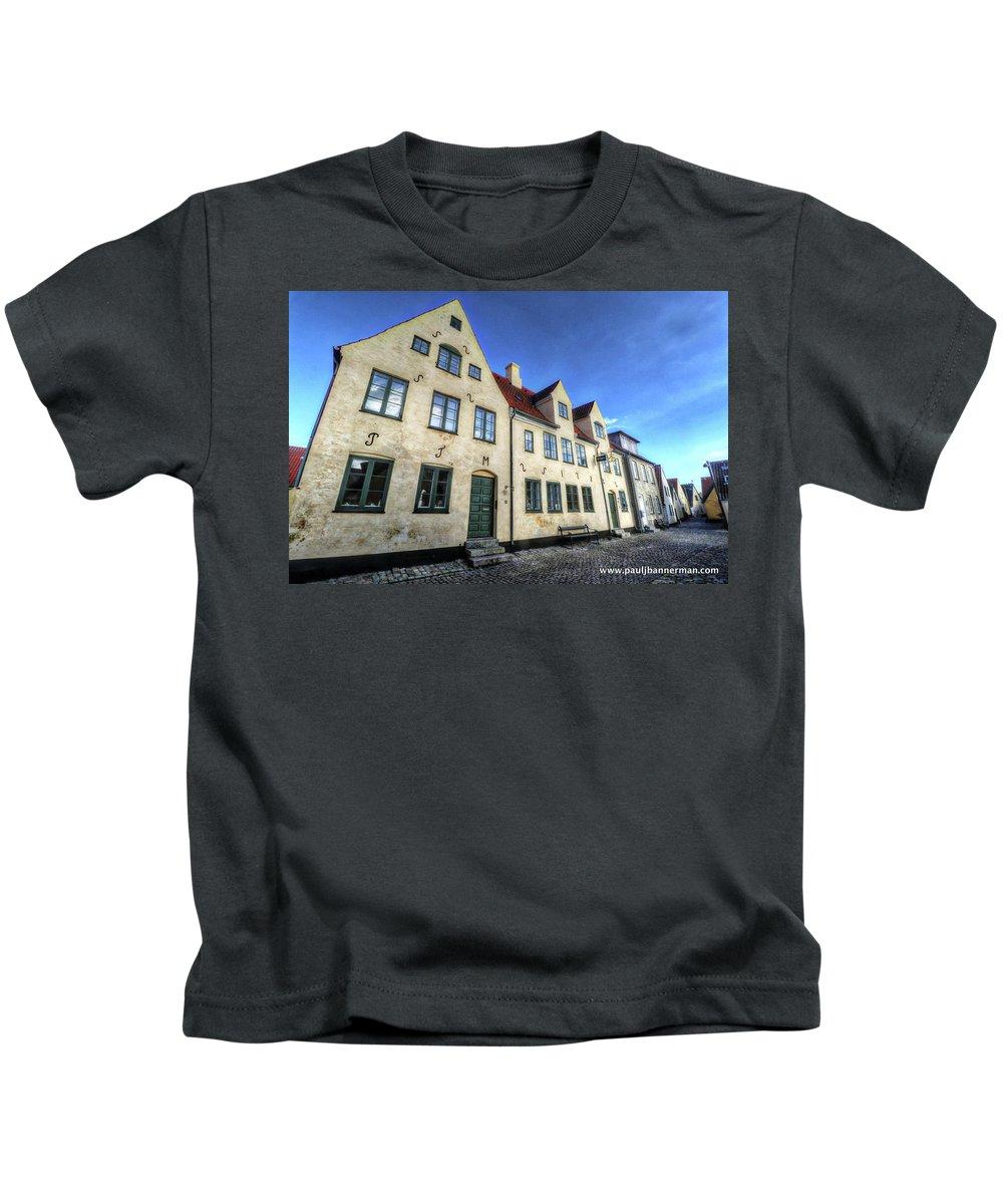 Zealand Denmark Kids T-Shirt featuring the photograph Zealand Denmark by Paul James Bannerman