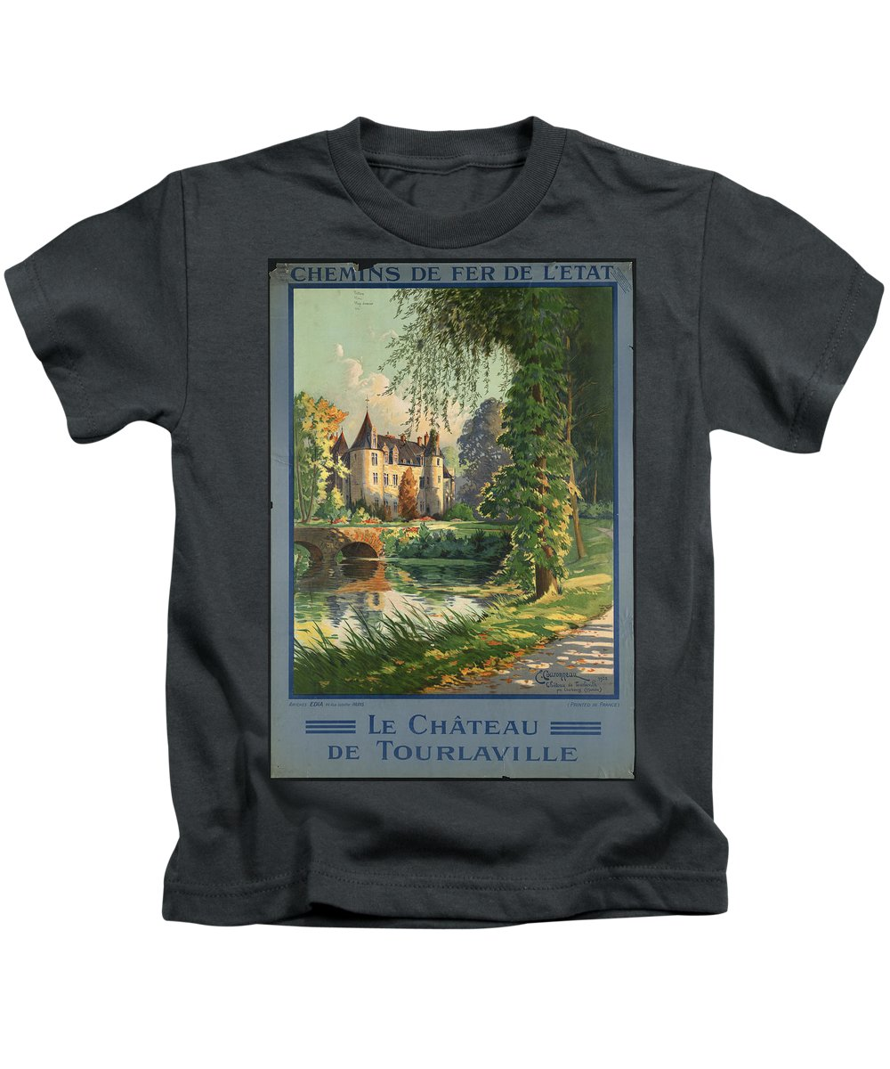 Public-domain-images-free-vintage-posters-0156 Kids T-Shirt featuring the painting Public Domain Images by MotionAge Designs