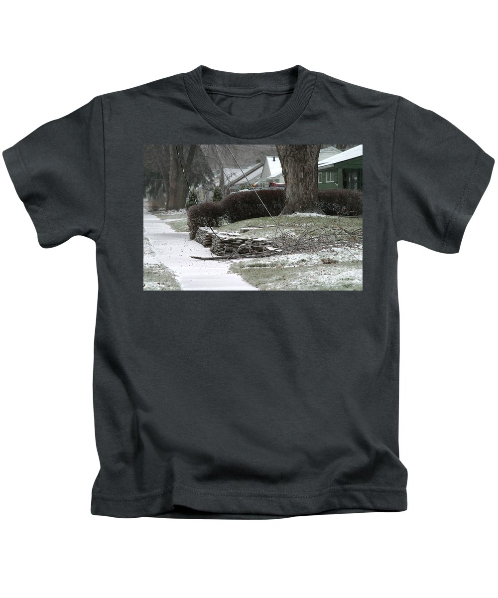 Ice Storm Kids T-Shirt featuring the photograph Ice Storm by Ted Kinsman