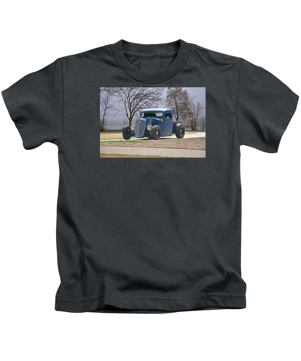 Auto Kids T-Shirt featuring the photograph 1935 Chevrolet 'hot Rod' Pickup by Dave Koontz