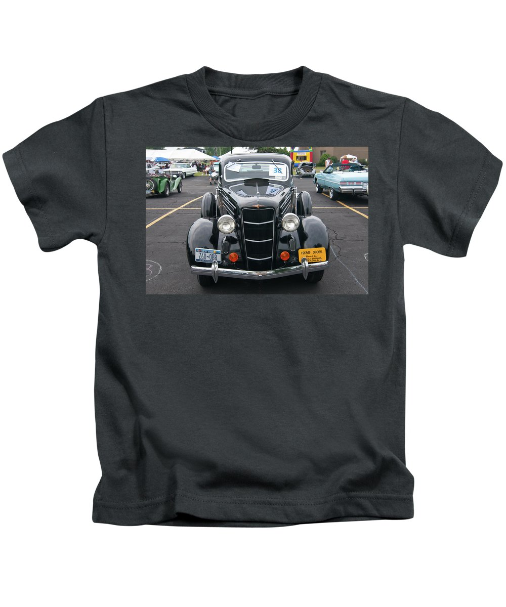 Antique Car Kids T-Shirt featuring the photograph 1935 Dodge 2019 by Guy Whiteley