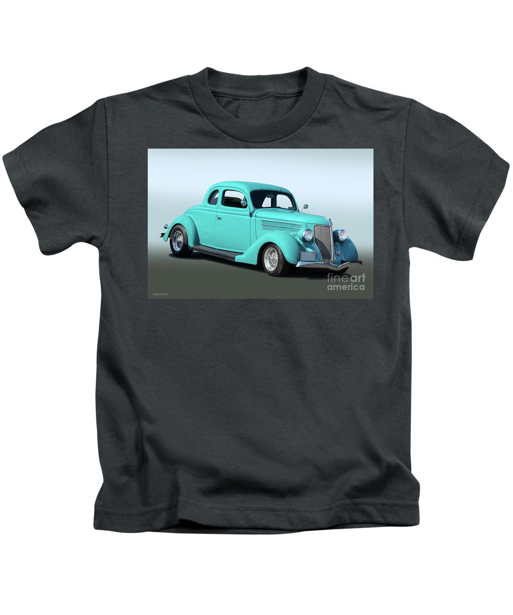 Auto Kids T-Shirt featuring the photograph 1936 Ford Coupe 1 by Dave Koontz