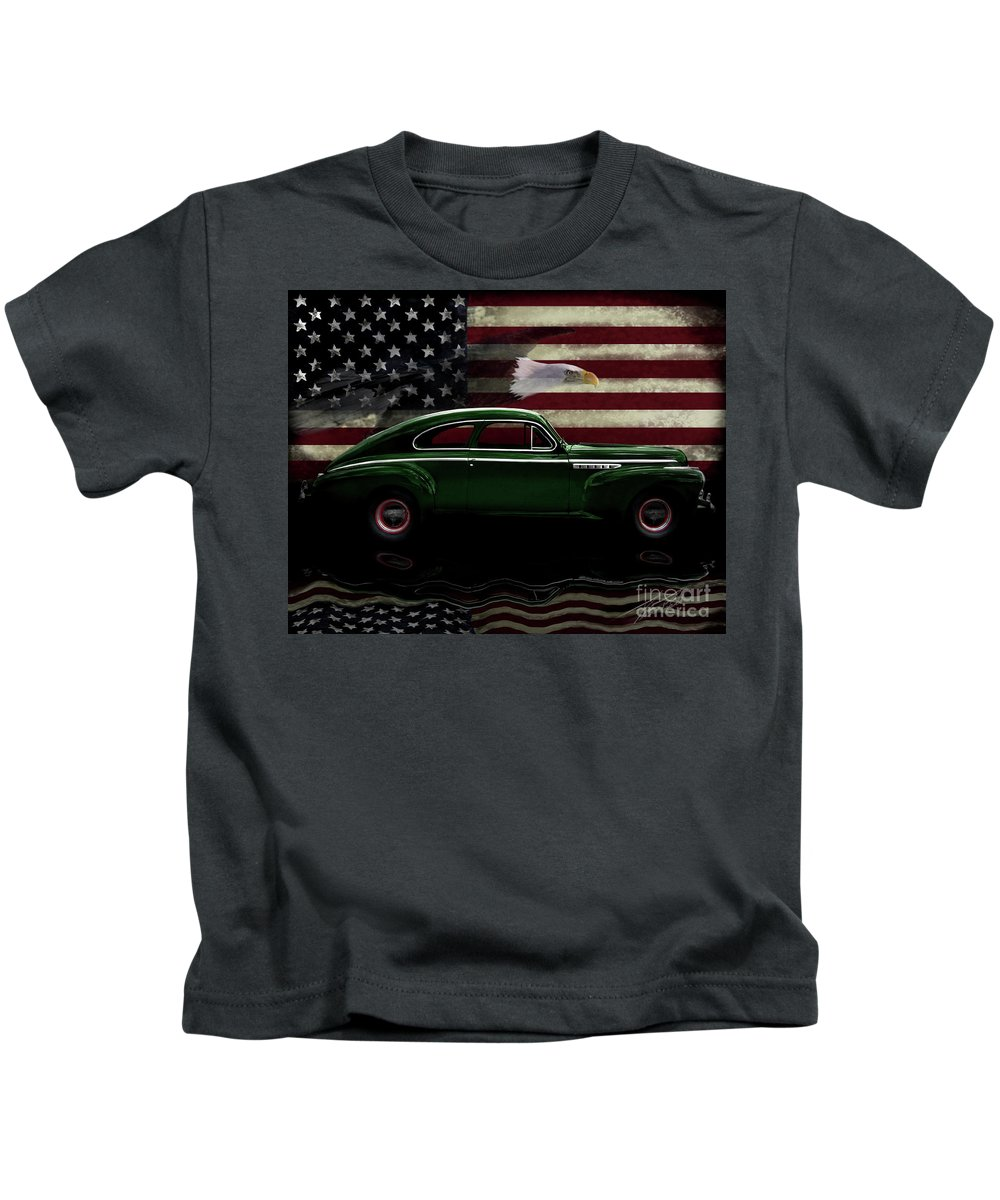 1941 Buick Century Fastback Kids T-Shirt featuring the photograph 1941 Buick Century Tribute by Peter Piatt