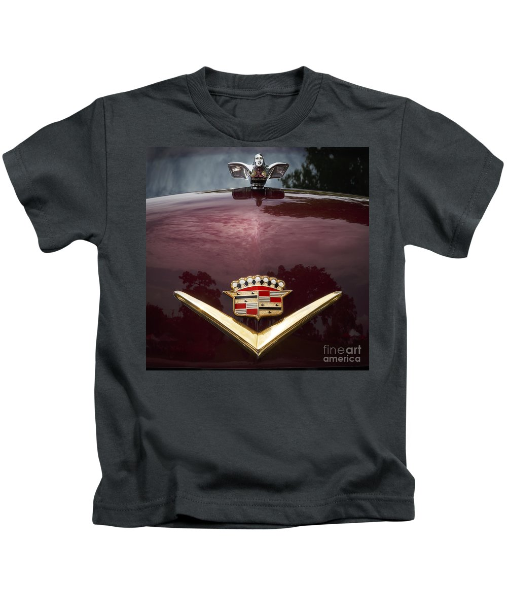 Cadillac Kids T-Shirt featuring the photograph 1952 Cadillac by Dennis Hedberg