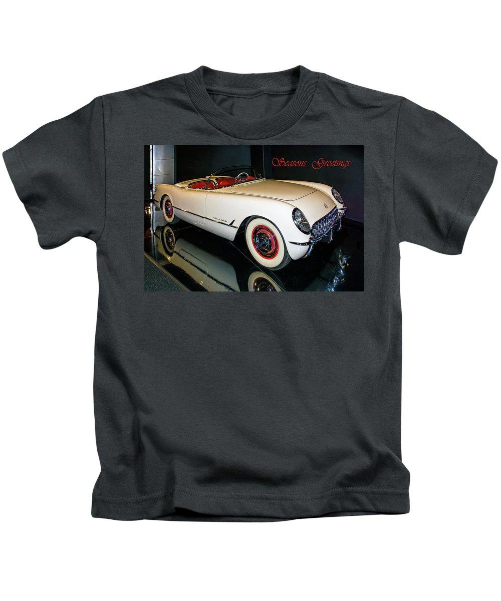 Classic Cars Kids T-Shirt featuring the photograph 1954 Chevrolet Corvette Convertible by John Bartelt
