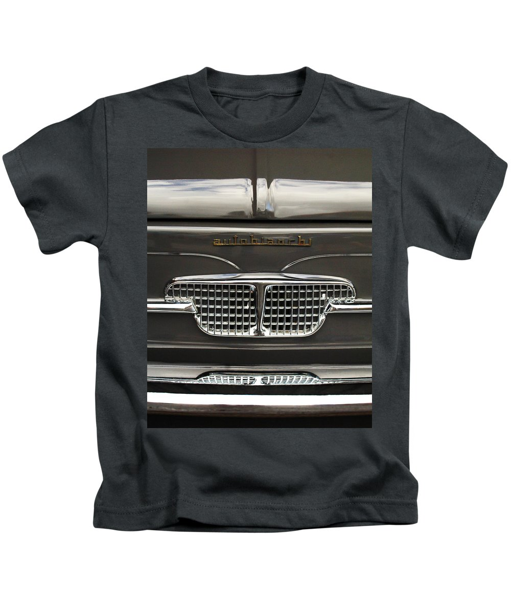 Car Kids T-Shirt featuring the photograph 1967 Autobianchini Special Italy Grille by Jill Reger
