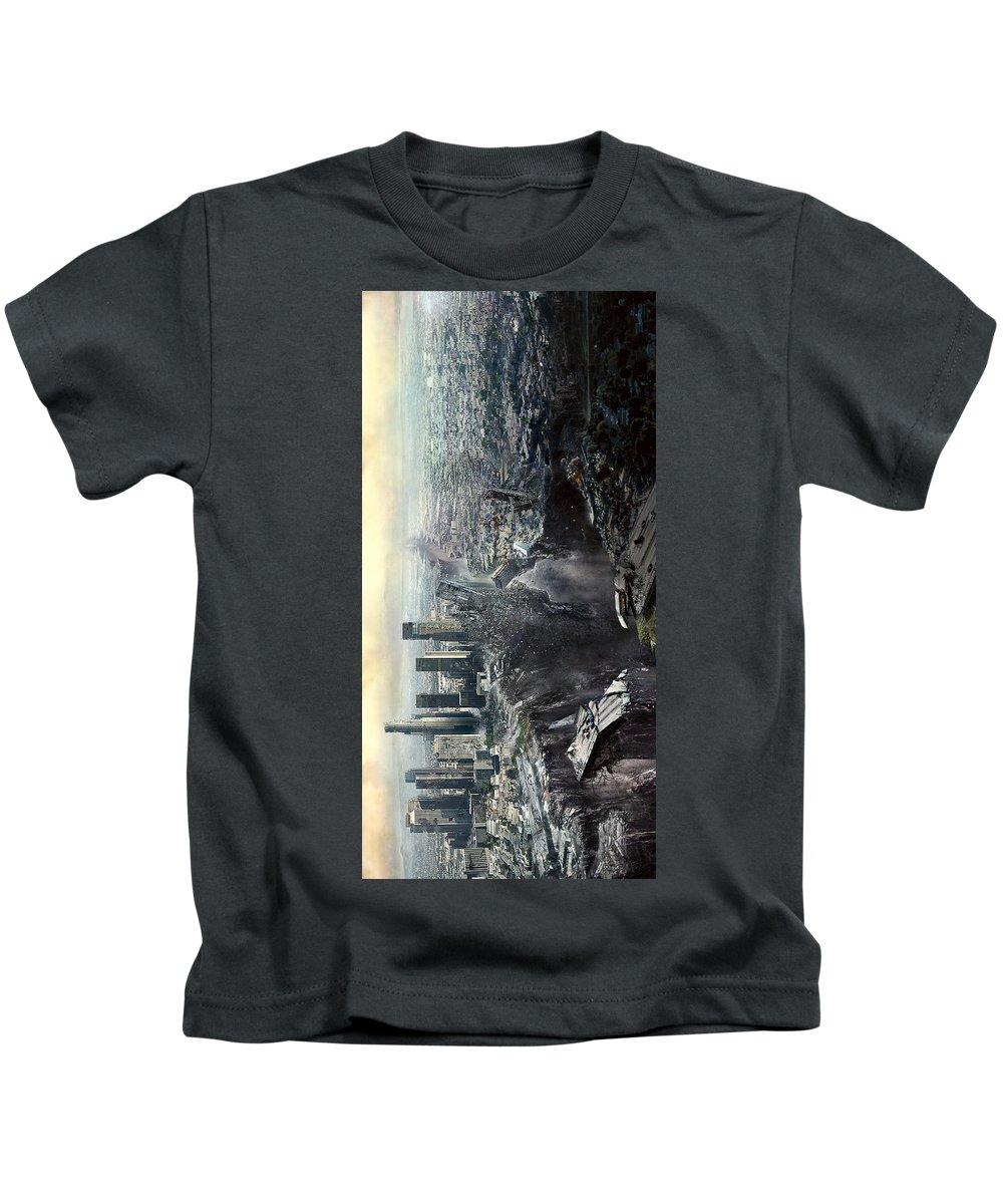 2012 2009 Kids T-Shirt featuring the digital art 2012 2009 by Geek N Rock