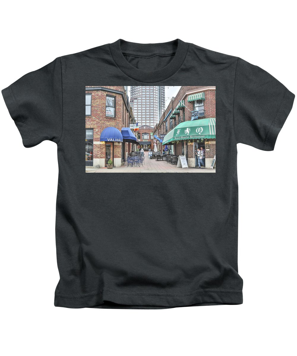 Charlotte Nc Downtown Kids T-Shirt featuring the photograph Charlotte Nc Downtown by Jimmy McDonald