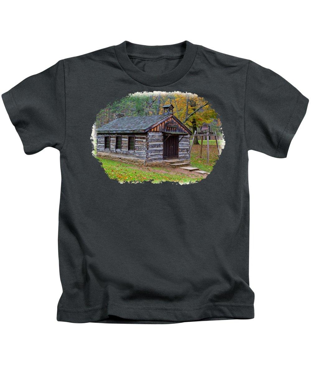Tree Kids T-Shirt featuring the photograph Church by John M Bailey