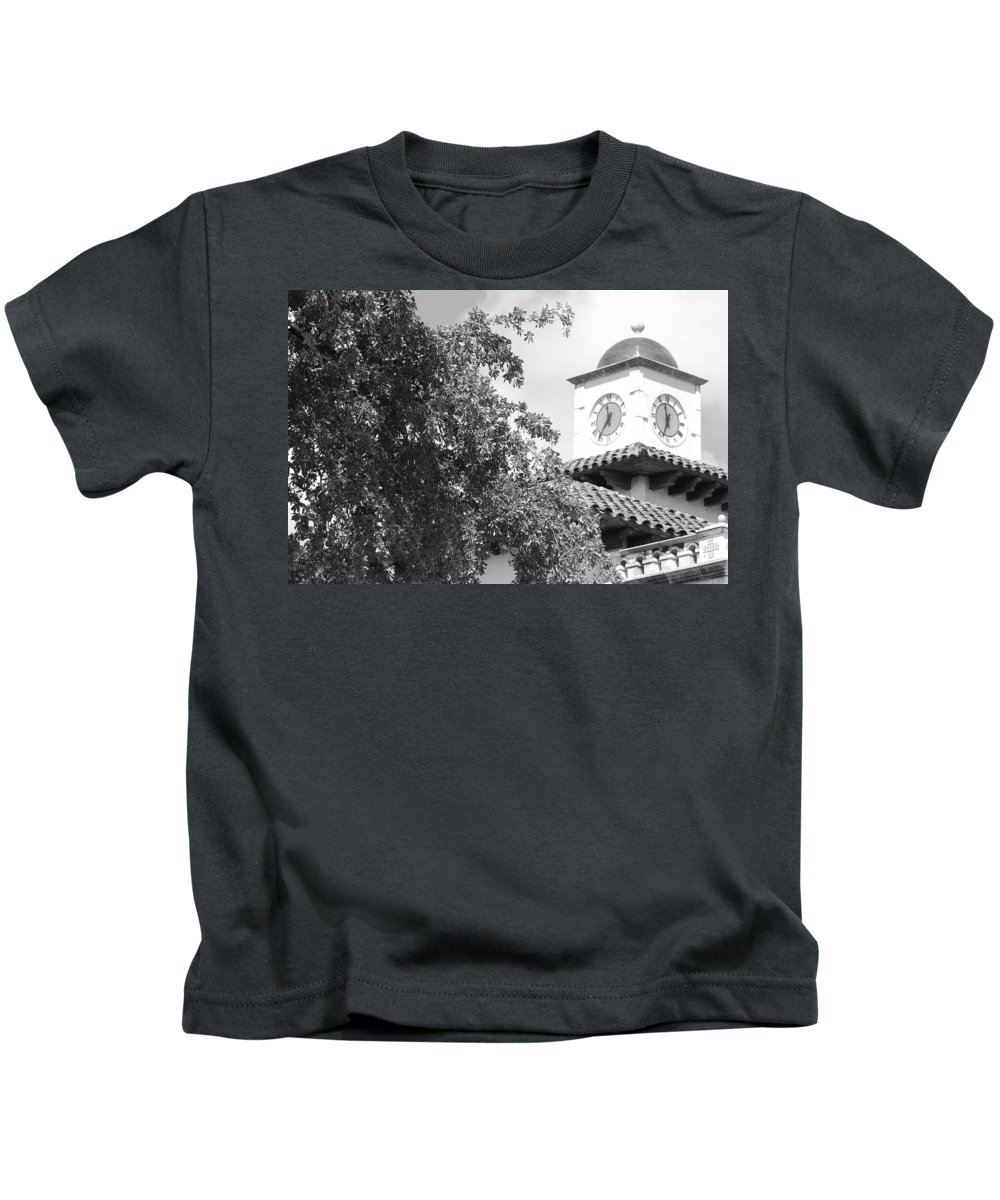 Clock Kids T-Shirt featuring the photograph Clock Tower by Rob Hans