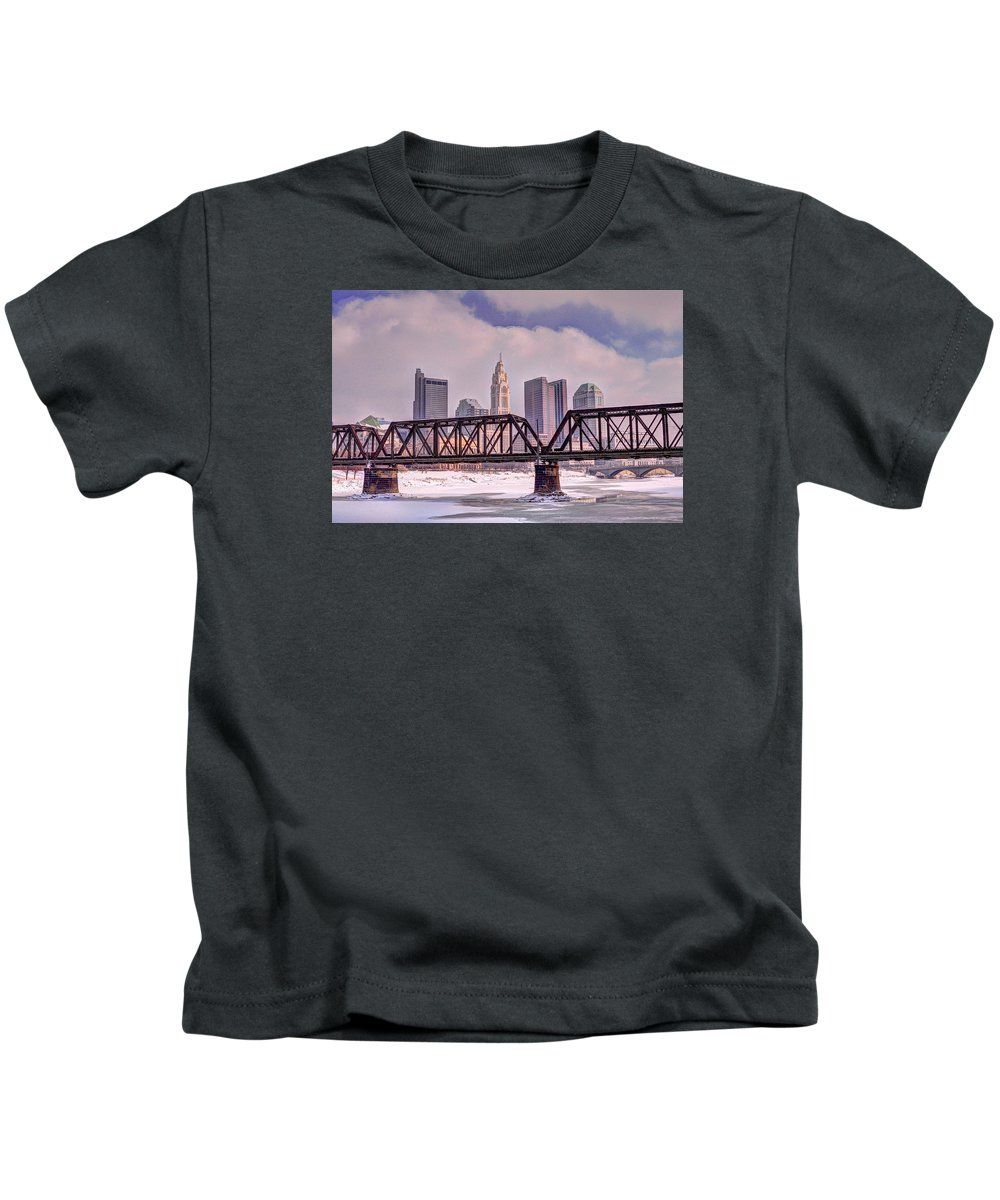 Columbus Kids T-Shirt featuring the photograph Columbus, Ohio by David Kelso