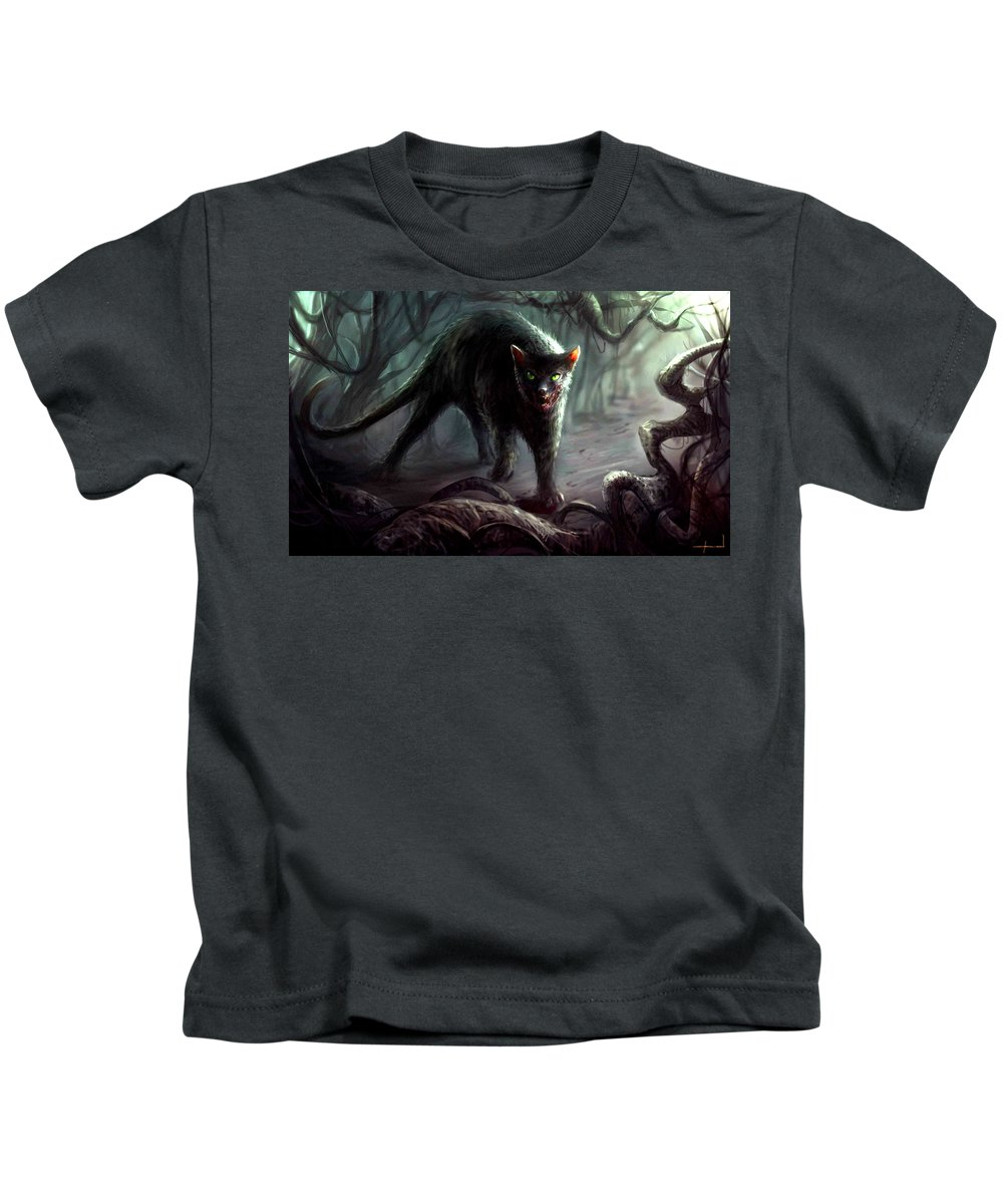 Creepy Kids T-Shirt featuring the digital art Creepy by Dorothy Binder