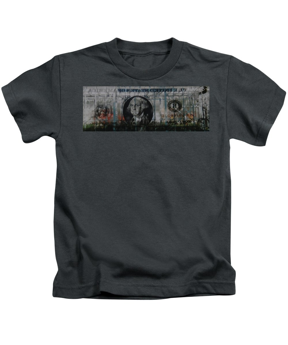 Park Kids T-Shirt featuring the photograph Dollar Bill by Rob Hans