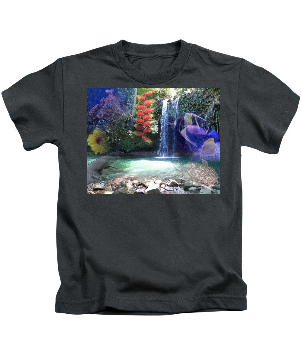 Waterfall Kids T-Shirt featuring the photograph Favorite Things by Angie Hamlin