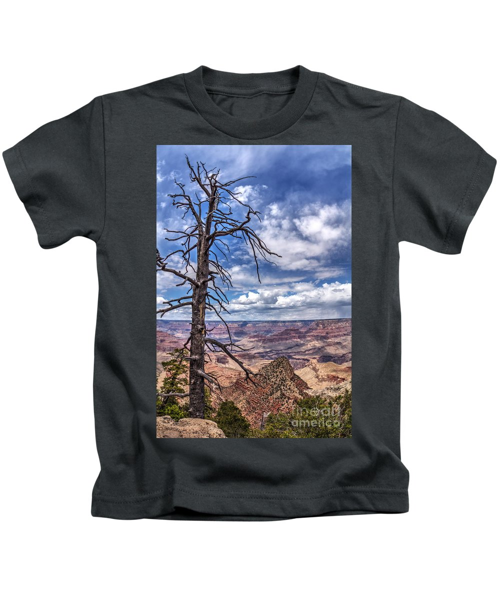 Grand Canyon National Park South Rim Kids T-Shirt featuring the photograph Grand Canyon National Park - South Rim by Onie Dimaano