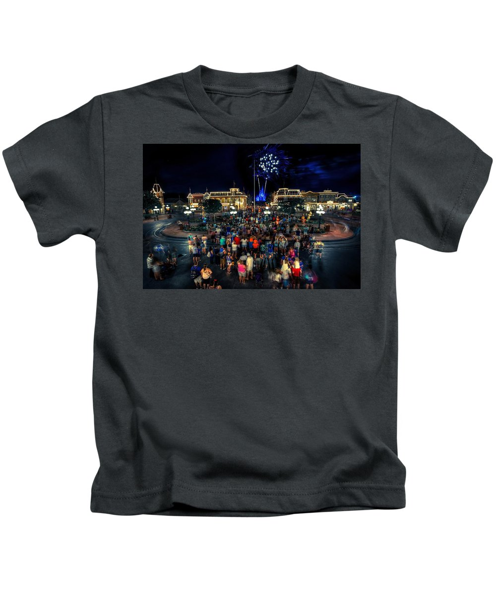 2015 Kids T-Shirt featuring the photograph Halloween At Magic Kingdom by James Wellman
