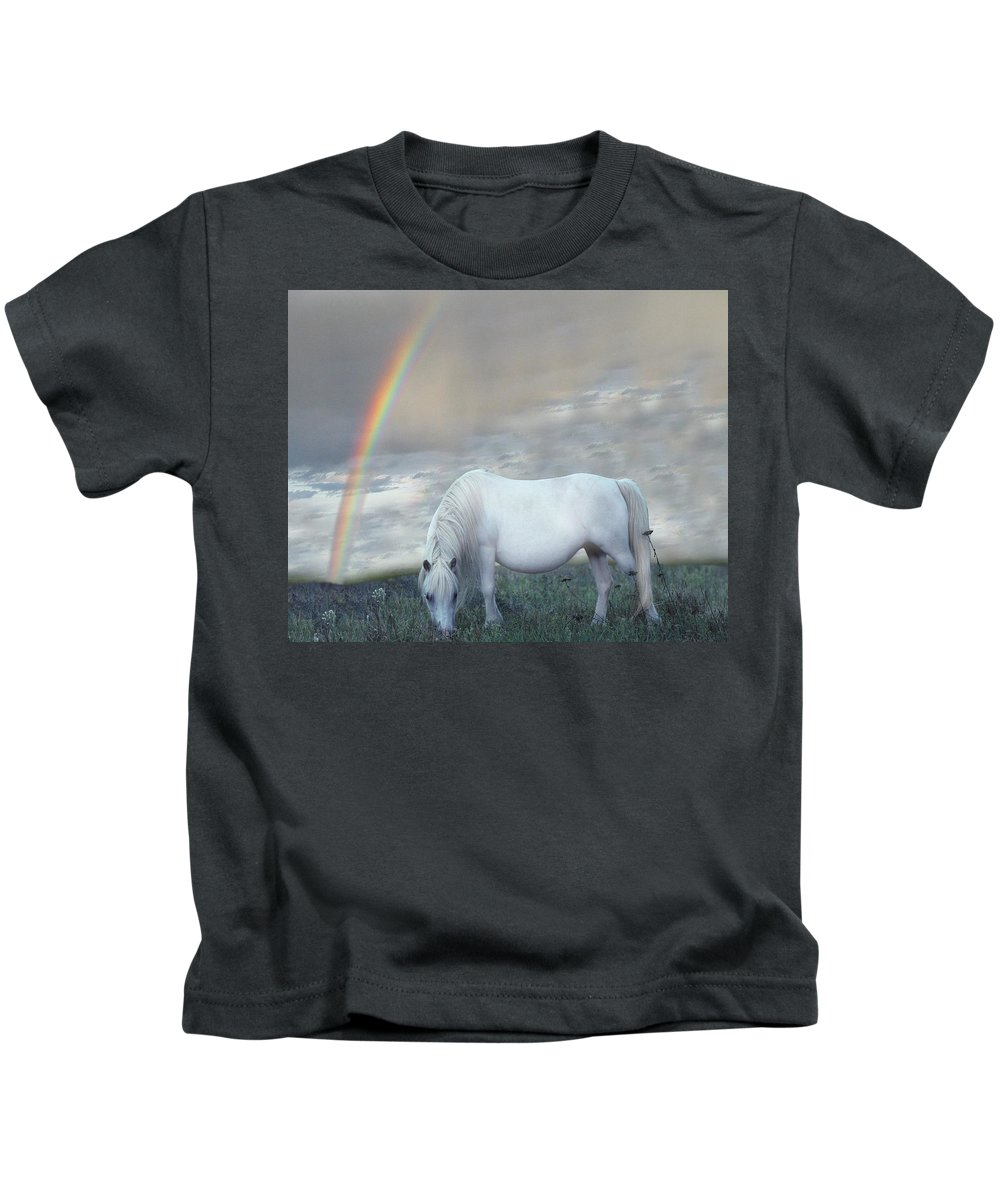 Horse Kids T-Shirt featuring the digital art Horse by Dorothy Binder