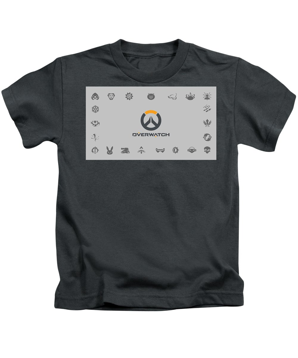 Overwatch Kids T-Shirt featuring the digital art Overwatch by Dorothy Binder