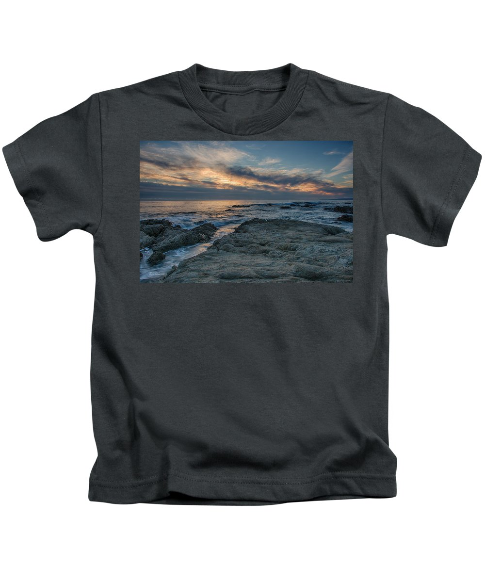 Asilomar Kids T-Shirt featuring the photograph Pacific Grove Sunset by Bill Roberts