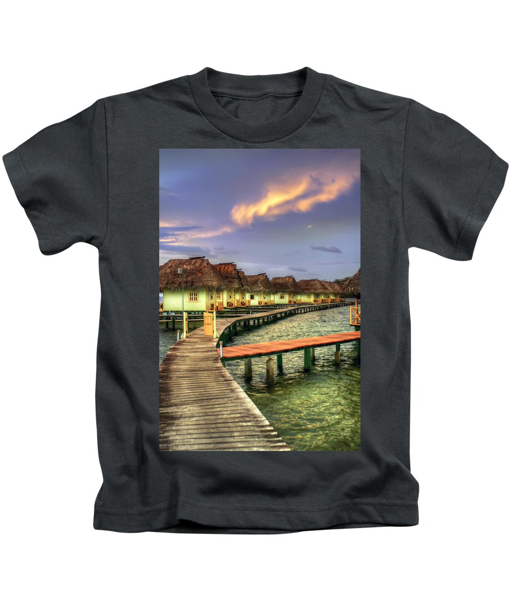 Punta Caracol Kids T-Shirt featuring the photograph Punta Caracol by Dolly Sanchez