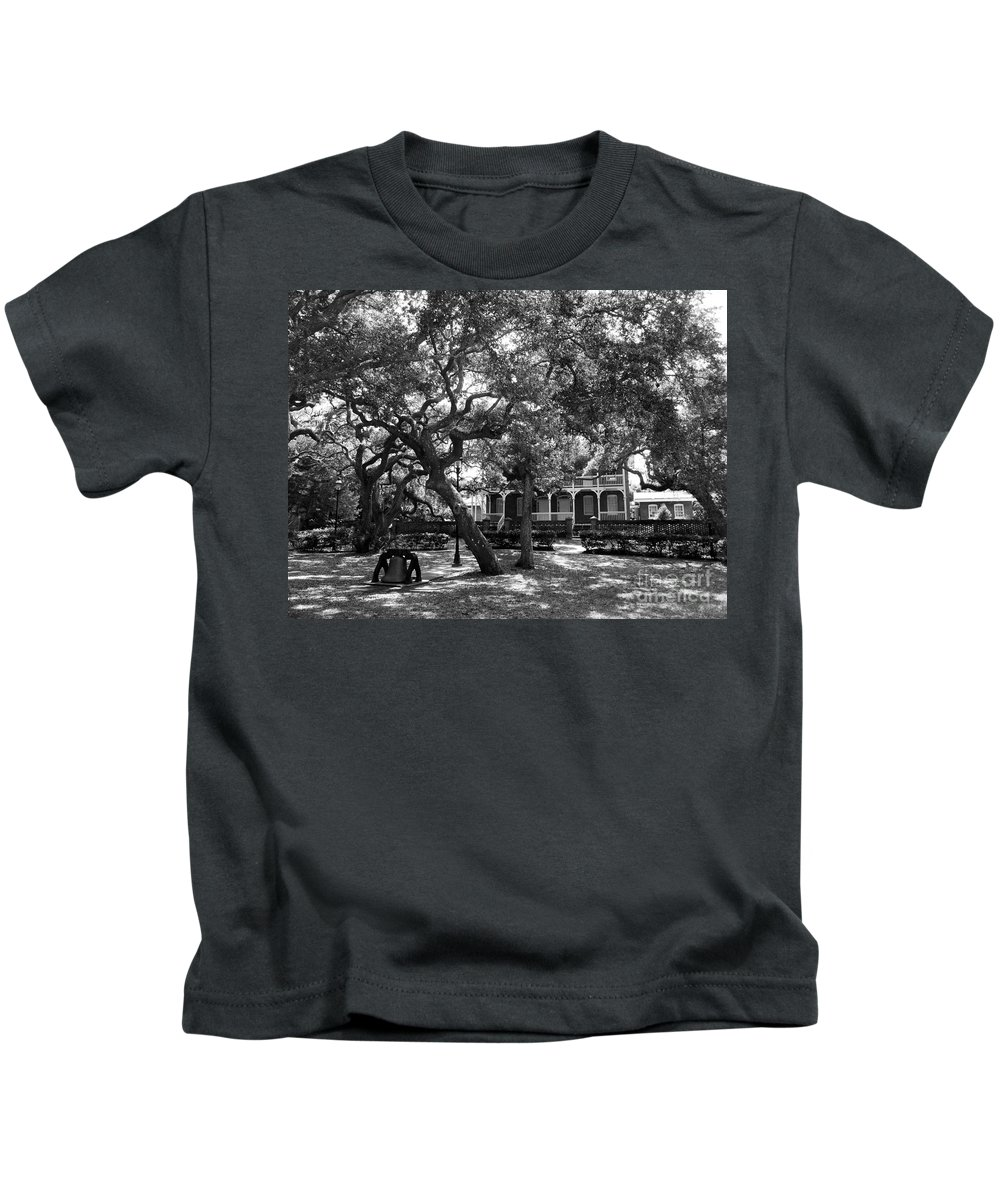 Lighthouses Kids T-Shirt featuring the photograph St Augustine Lighthouse by Skip Willits