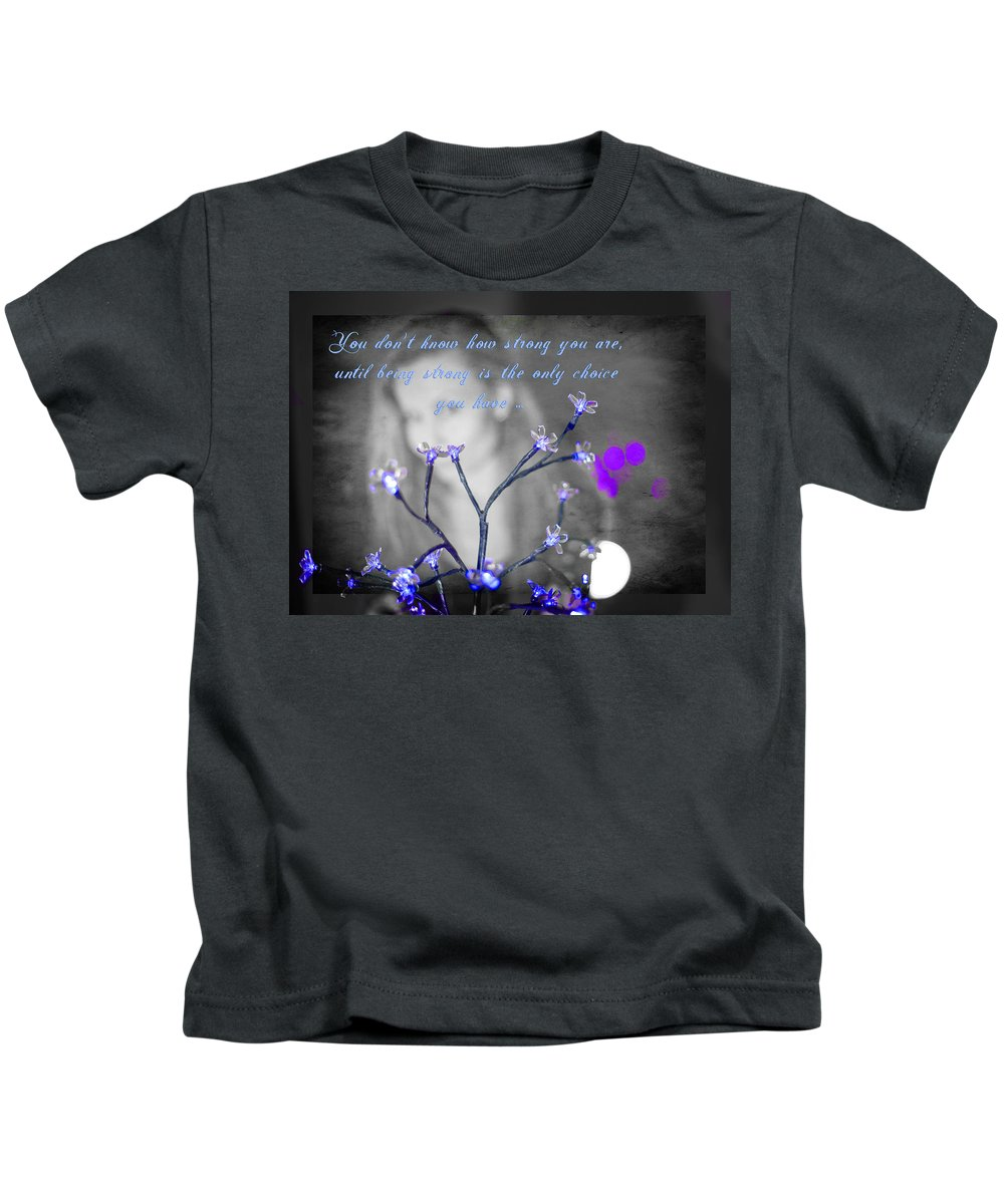 Strength Kids T-Shirt featuring the photograph Strength by Alex Art and Photo