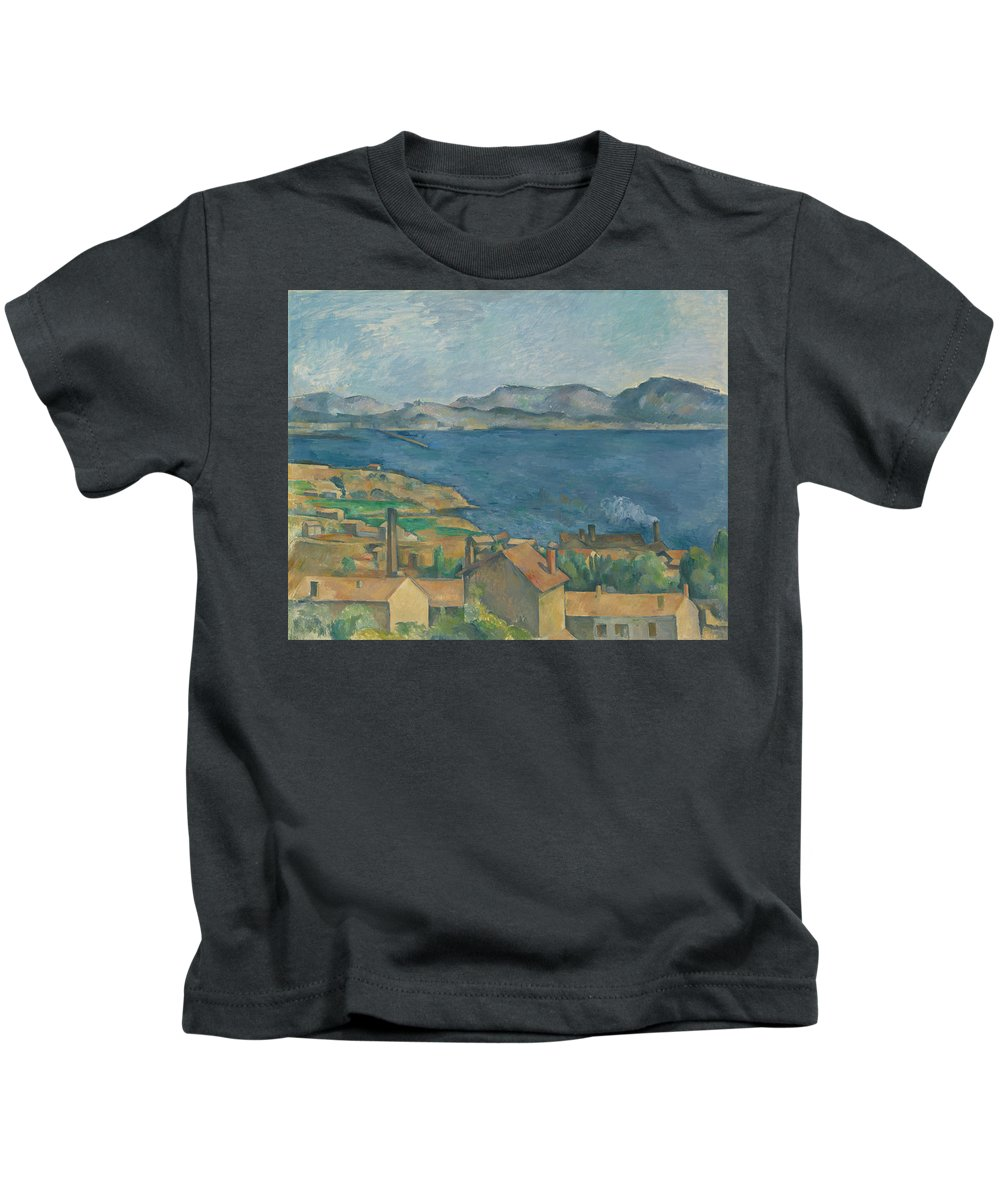 Painting Kids T-Shirt featuring the painting The Bay Of Marseilles by Mountain Dreams