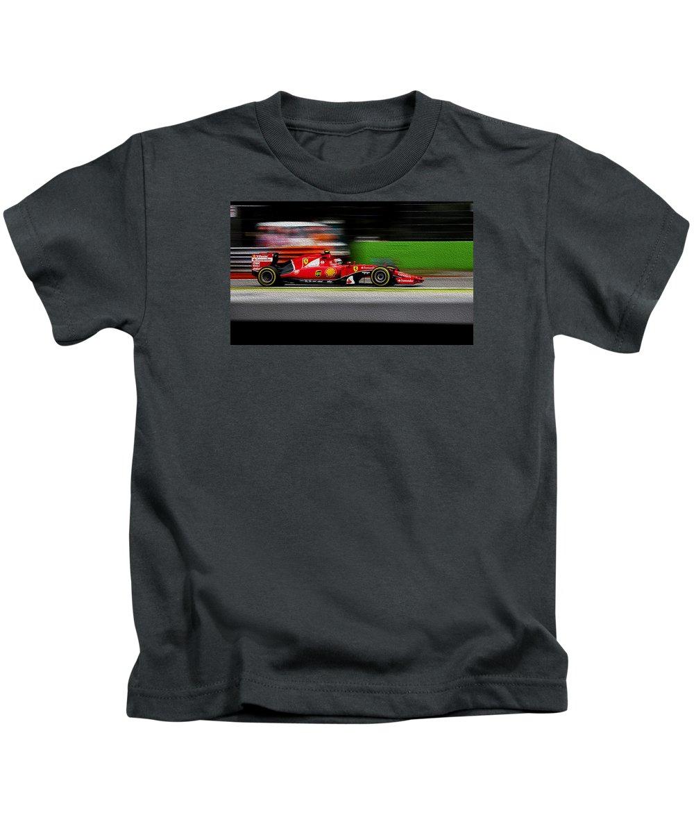 Formula1 Kids T-Shirt featuring the photograph Ferrari Formula 1 Monza by Srdjan Petrovic