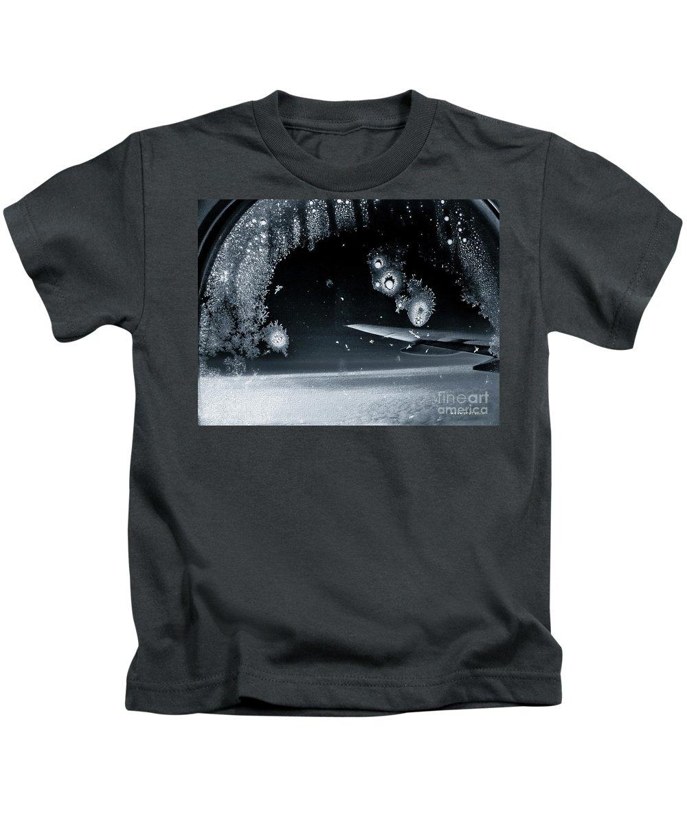 Mona Stut Kids T-Shirt featuring the photograph 20,000 Feet Bw by Mona Stut
