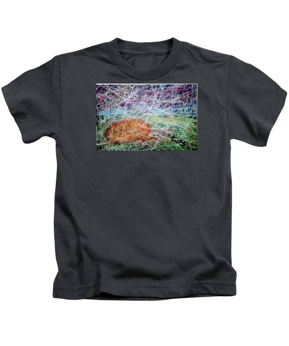 Kids T-Shirt featuring the painting 21 by Terry Wiklund