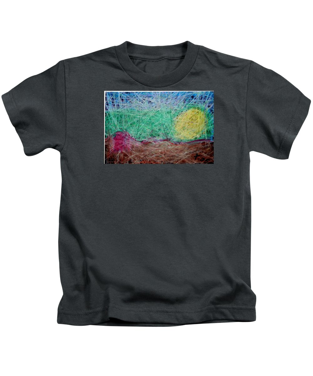 Kids T-Shirt featuring the painting 22 by Terry Wiklund