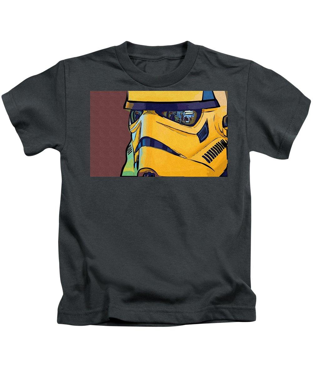 Star Wars Kids T-Shirt featuring the digital art Star Wars Episode 5 Poster by Larry Jones