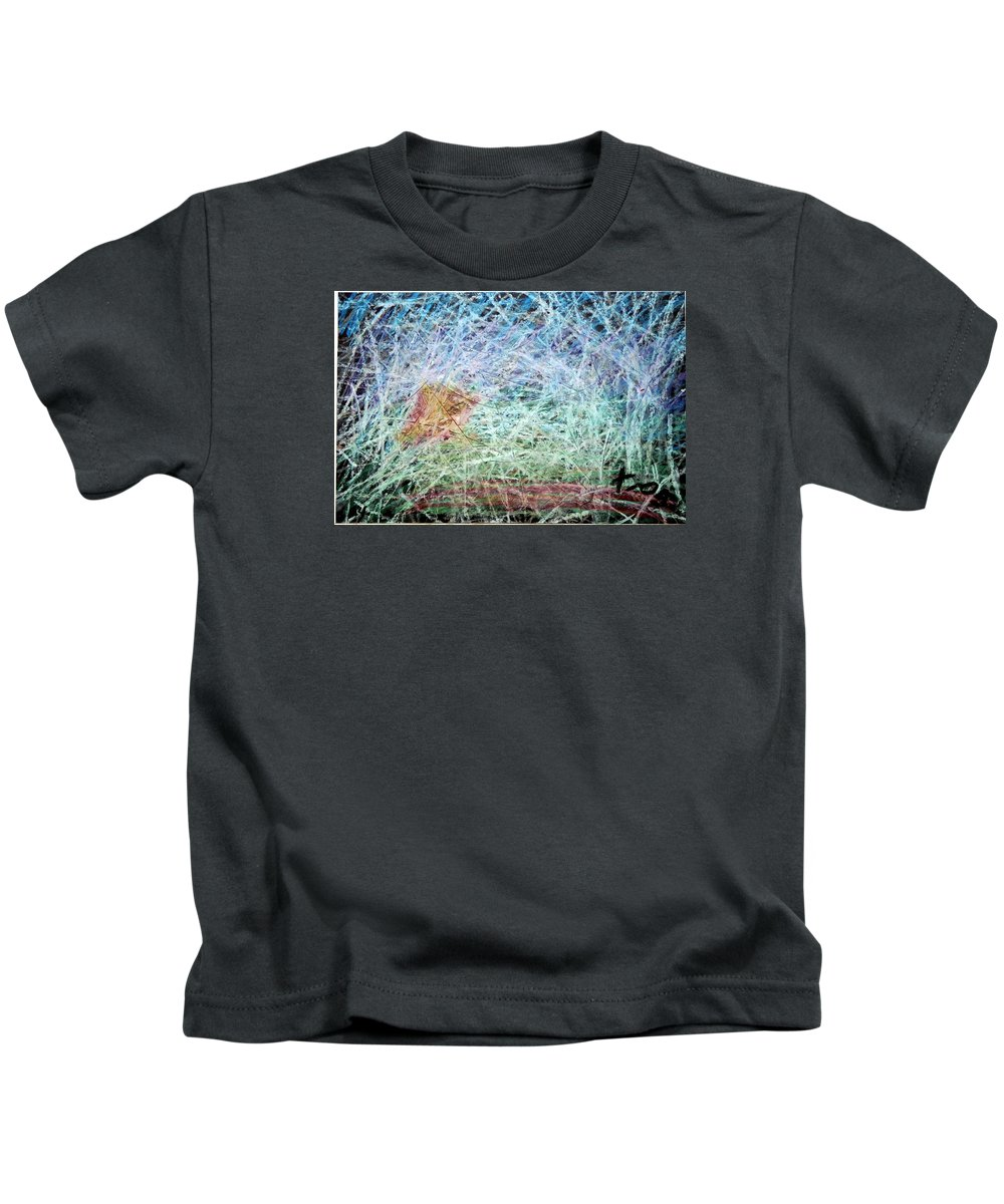 Kids T-Shirt featuring the painting 24 by Terry Wiklund