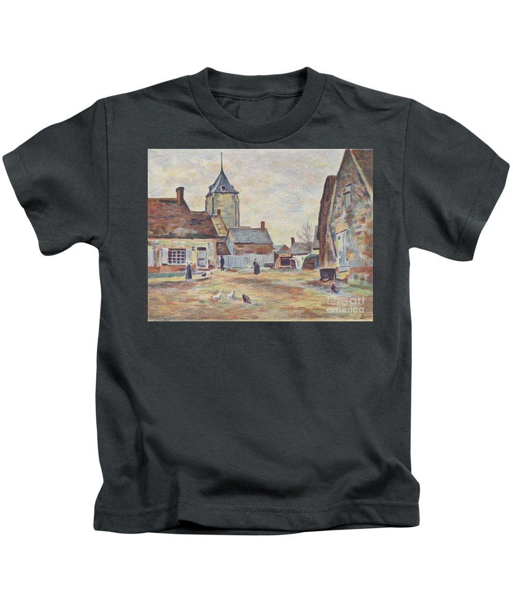 Le M�e Maximilien Luce (1858 - 1941) Kids T-Shirt featuring the painting Landscape by Celestial Images