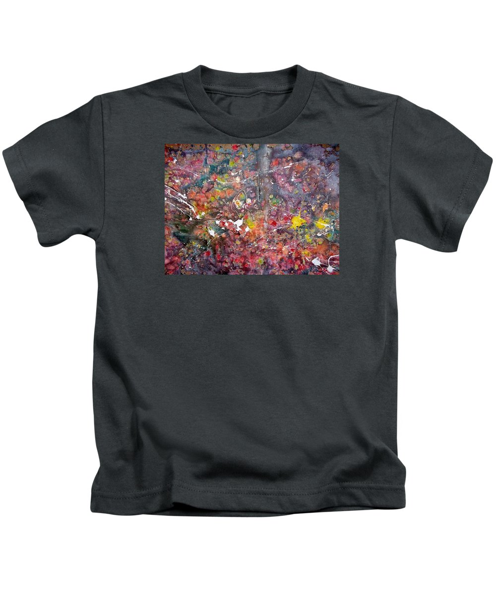 Apsraksion Kids T-Shirt featuring the painting Abstract by Zana Rruplli
