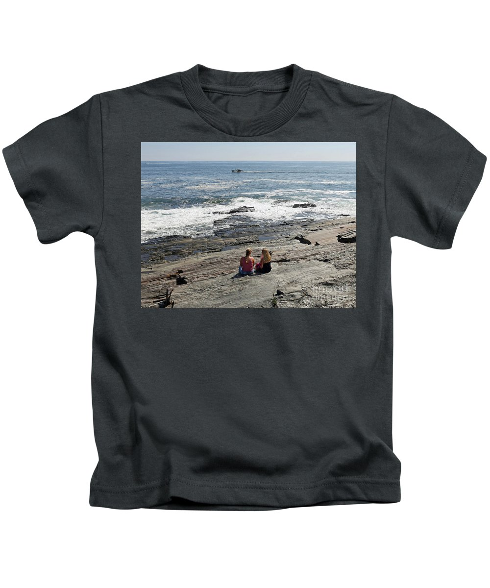 Atlantic Kids T-Shirt featuring the photograph Cape Elizabeth, Maine by Steve Gass