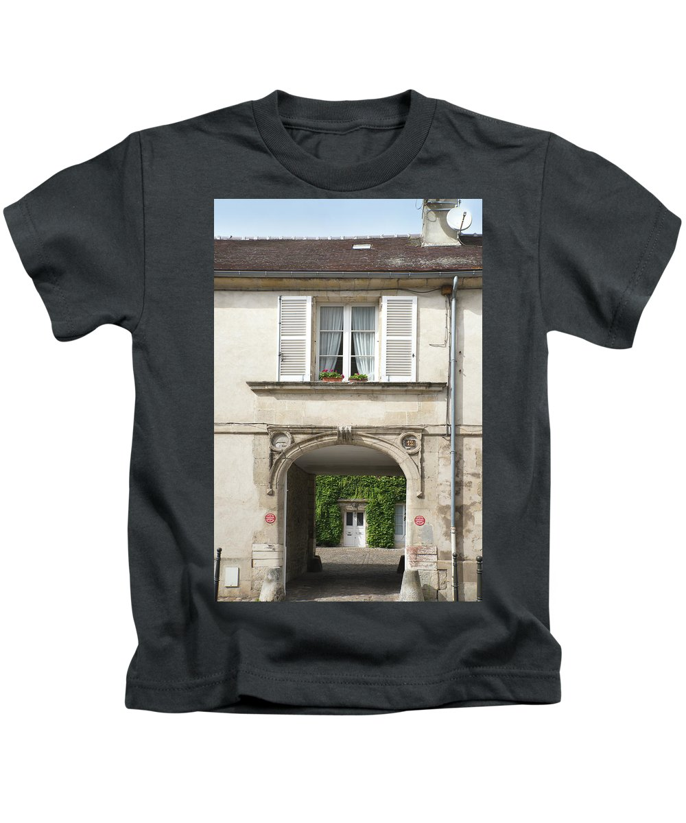 Chantilly Kids T-Shirt featuring the digital art Chantilly France Street Scenes by Carol Ailles