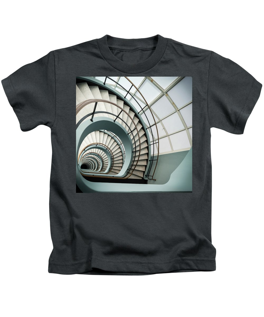 Den Bell Kids T-Shirt featuring the photograph Den Bell by Michael Jacobs