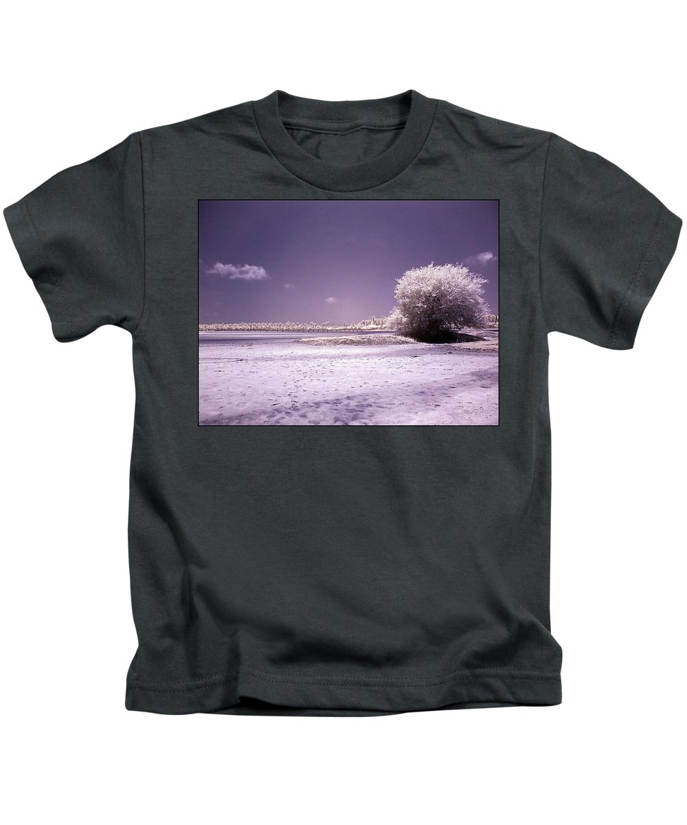 Infrared Kids T-Shirt featuring the photograph Desertic Tree by Galeria Trompiz