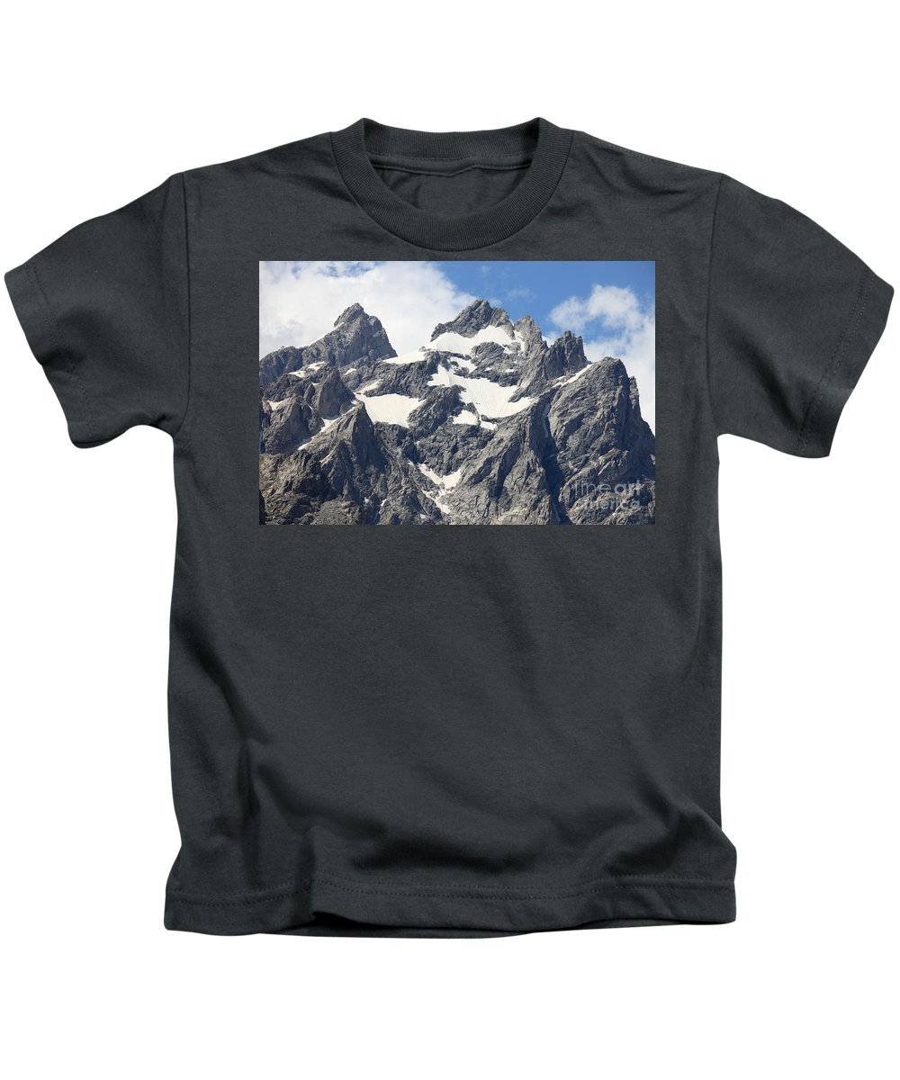 Grand Tetons Kids T-Shirt featuring the photograph Grand Tetons, Wyoming by Ted Kinsman