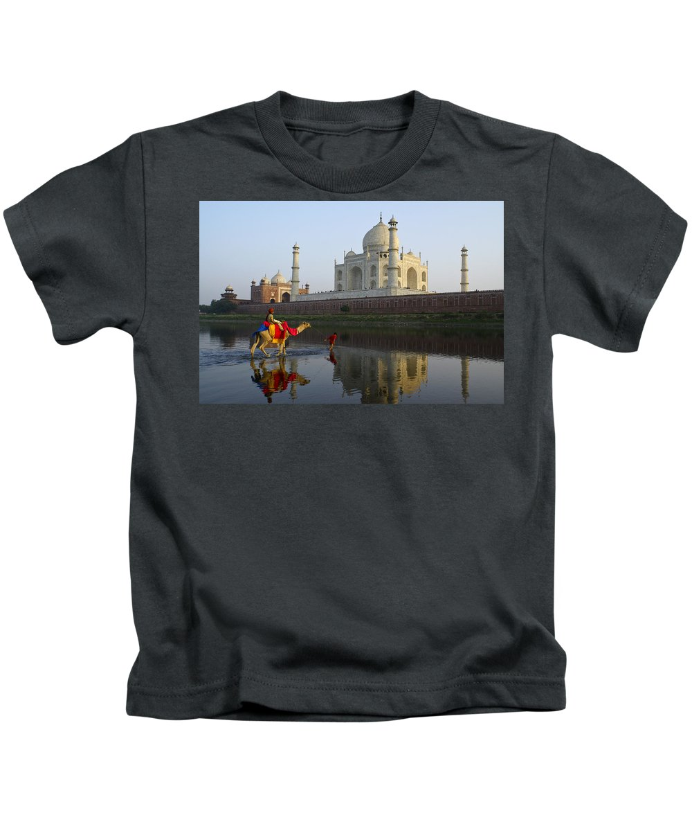 Taj Mahal Kids T-Shirt featuring the photograph India's Taj Mahal by Michele Burgess
