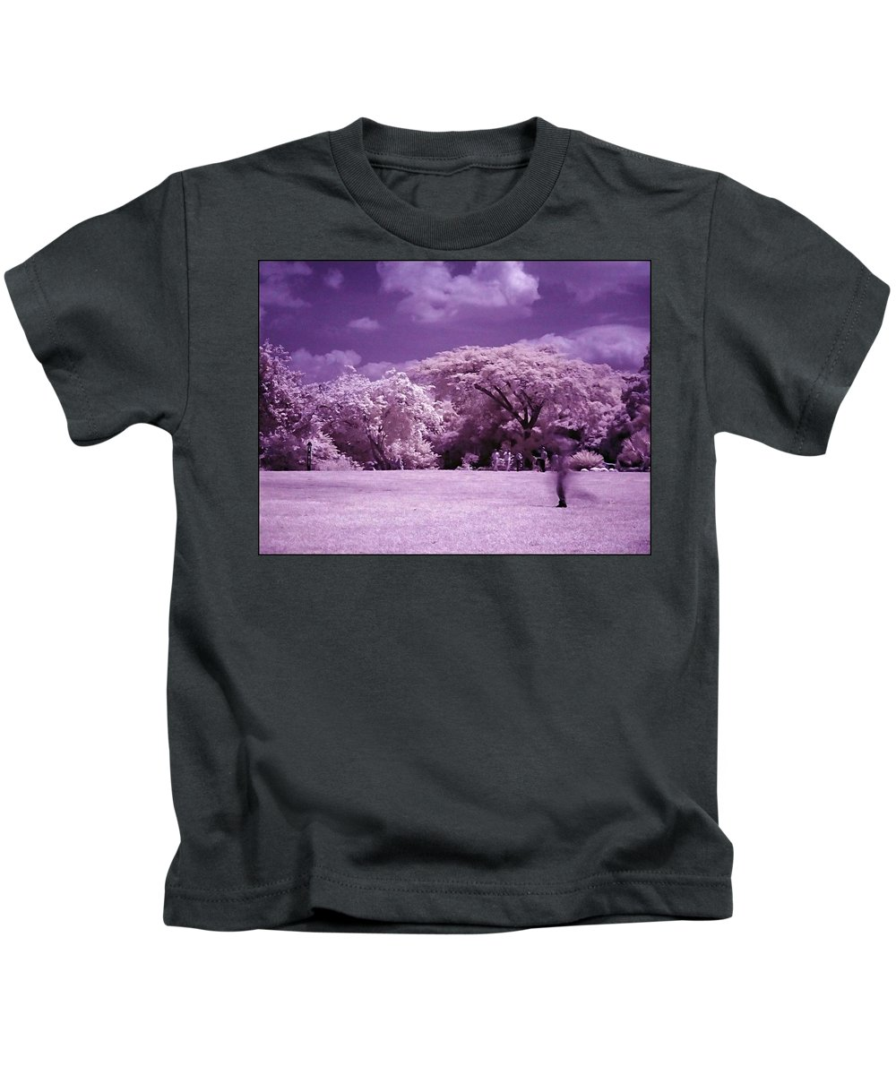 Infrared Kids T-Shirt featuring the photograph Magic Garden by Galeria Trompiz