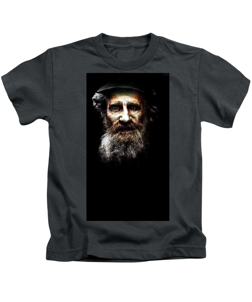 Kids T-Shirt featuring the painting Older Brother by Maciej Mackiewicz