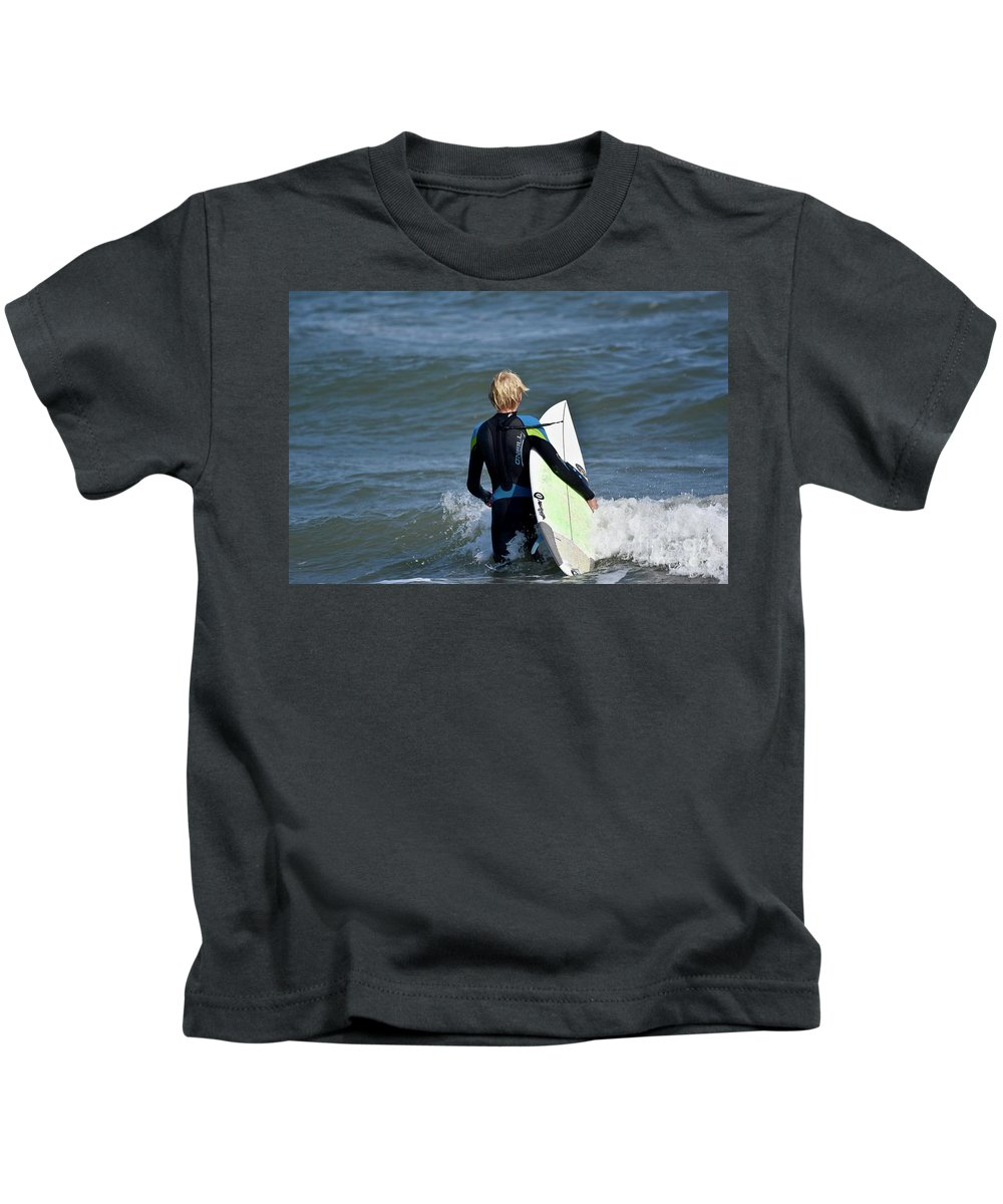 Surfer Kids T-Shirt featuring the photograph Surfs Up by Jeramey Lende