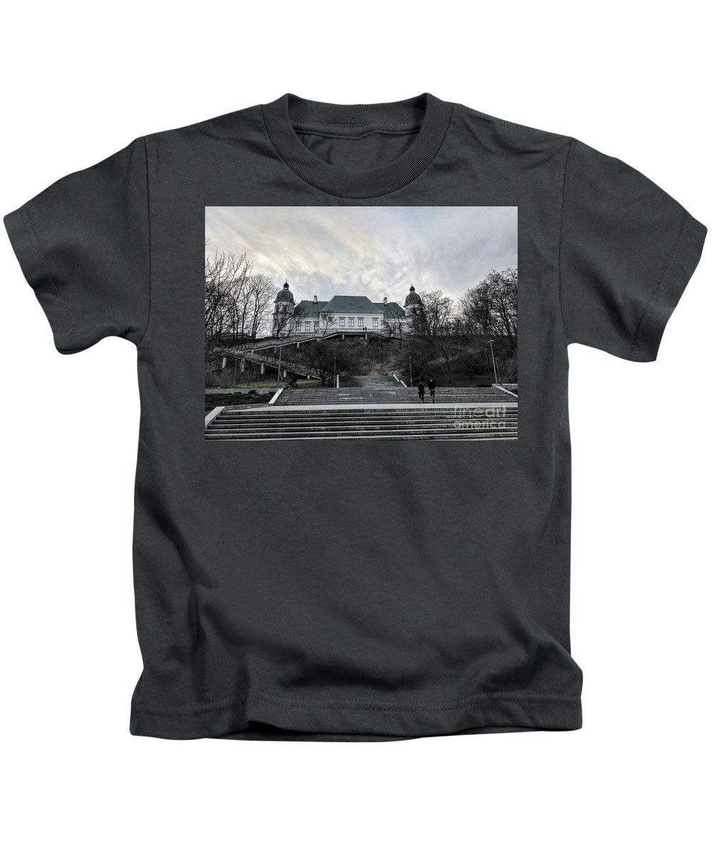 Kids T-Shirt featuring the photograph Warsaw, Poland by Christian Smochko