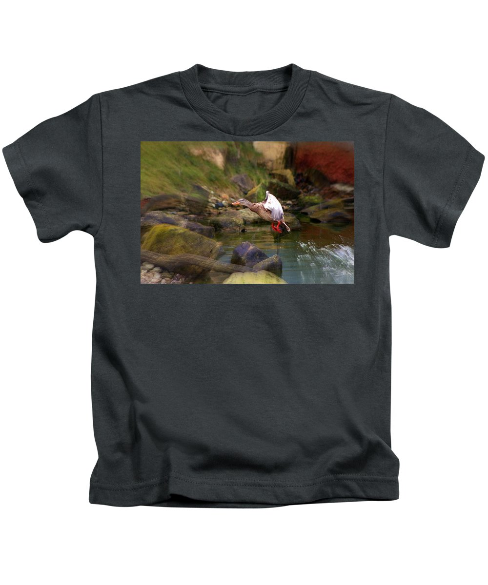 Hannover Zoo Germany Kids T-Shirt featuring the photograph Hannover Zoo Germany by Paul James Bannerman